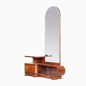 Art Deco Walnut Dressing Mirror, Czechoslovakia, 1920s