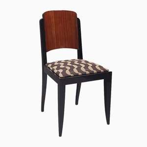 French Art Deco Rosewood Chairs by Jules Leleu, Set of 6