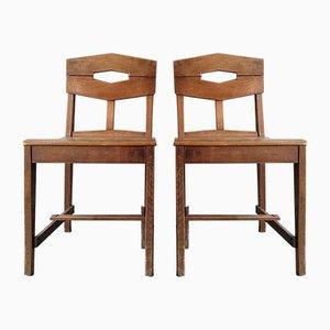 Beistellstühle von Gustave Serrurier-Bovy, 2er Set