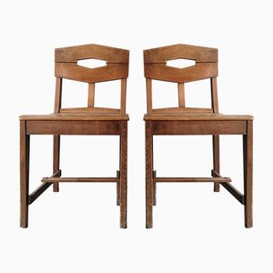Side Chairs by Gustave Serrurier-Bovy, Set of 2