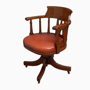 Chaise de Bureau Tournante en Acajou, Angleterre