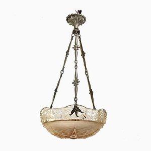 Lampe à Suspension Art Nouveau de Muller Frères