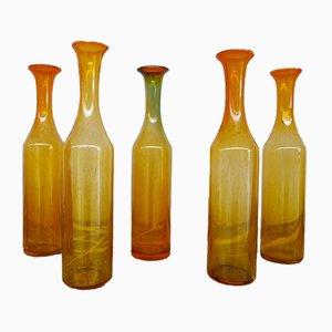 French Glass Decorative Bottles, Set of 17