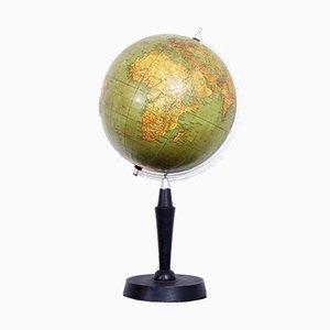 Globus mit Weltkarte von Albert Krause, 1930er