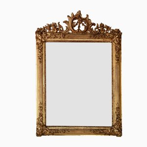 Large 19th Century Gilt Wall or Overmantle Mirror