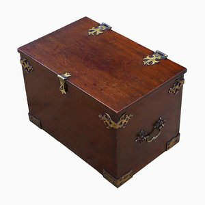 Gothic Revival Mahogany Despatch Pugin Box, 19th Century