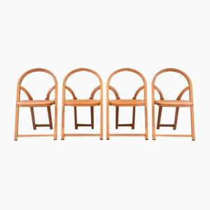 Arca Folding Chairs by Gigi Sabadin for Crassevig, 1970s, Set of 4