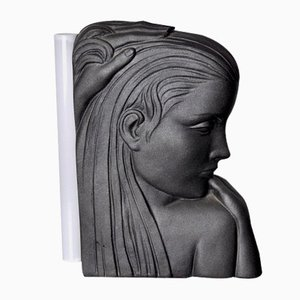 Woman Bust Table Lamp, France, 1970