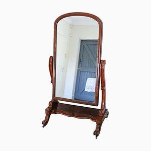 Viktorianischer Cheval Spiegel aus Mahagoni, 19. Jh