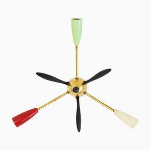 Small Mid-Century Sputnik 3-Light Chandelier, 1960s