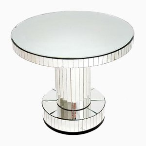 Art Deco Mirrored Glass Occasional Coffee Table