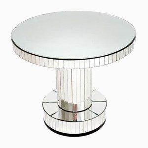 Table Basse Art Déco en Verre Miroité