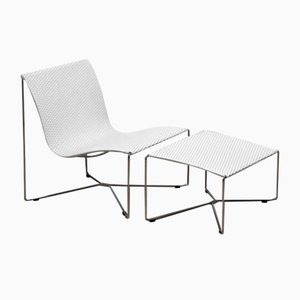 Lounge Chair & Ottoman from Kebe, Set of 2