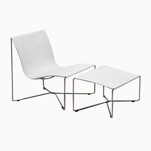 Sessel & Fußhocker von Kebe, 2er Set