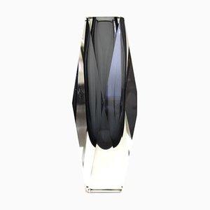 Vintage Italian Sommerso Murano Glass Vase, 1970s
