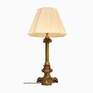 Lampe de Bureau Victorienne Antique en Laiton