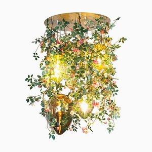 Lustre Flower Power Romantic Roses avec Lampes Oeuf en Cristal de Vgnewtrend, Italie