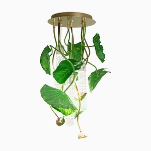Flower Power Lotus Dichondra Round Chandelier from Vgnewtrend, Italy