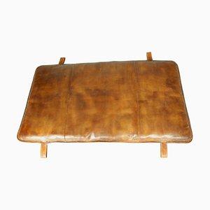 Vintage Leather Gym Mat, 1930s