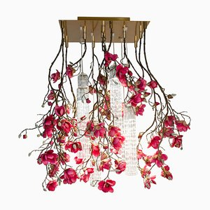 Flower Power Fuchsia Magnolia Chandelier from Vgnewtrend, Italy