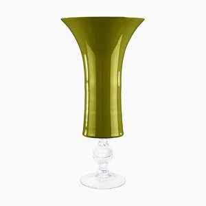 Large Apple Green Glass Laura Cup from Vgnewtrend