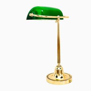 Art Deco Banker Lamp, Vienna, 1920s