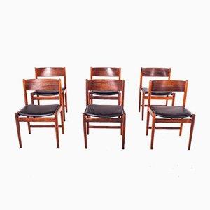 Mid-Century Esszimmerstühle aus Palisander von Arne Vodder für Sibast Furniture, 1960er, 6er Set