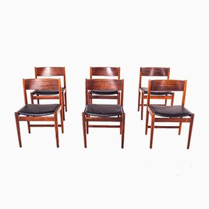Mid-Century Rosewood Dining Chairs by Arne Vodder for Sibast Furniture, 1960s, Set of 6