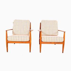 Model FD-118 Easy Chairs by Grete Jalk for France & Søn / France & Daverkosen, 1960s, Set of 2