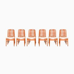 Teak Dining Chairs by Benny Linden, 1970s, Set of 12