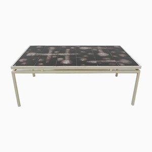 Tisch mit 18 Fliesen, 1950er