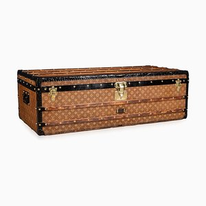 Large 20th Century Trunk in Woven Canvas from Louis Vuitton, Paris, 1900