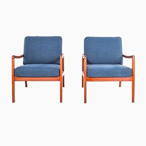 Easy Chairs in Teak by Ole Wanscher for France & Son, 1950s, Set of 2