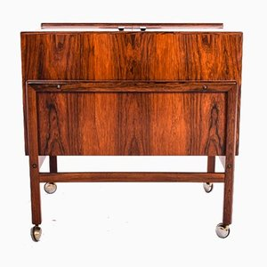Bar Cart Trolley in Rosewood by Andreas Hansen, 1960s