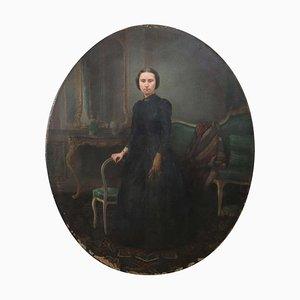 Olio su tela Ritratto di giovane donna