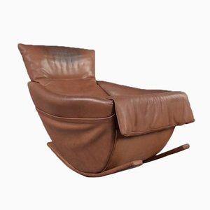 Rocking Chair in Bull Leather from de Sede, 1970s