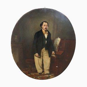 Italienisches Öl auf Leinwand Portrait eines Gentleman