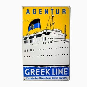 Enseigne Agentur Ligne Grecque en Porcelaine