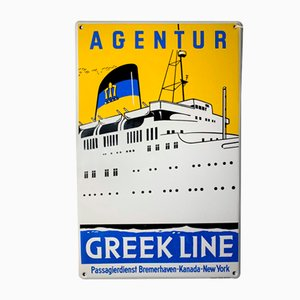 Porcelain Agentur Greek Line Sign