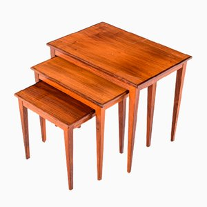 Mid-Century Danish Rosewood Nesting Tables, 1950s, Set of 3
