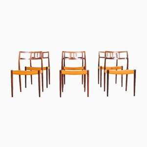 Rosewood Dining Chairs by Niels Moller, Set of 6