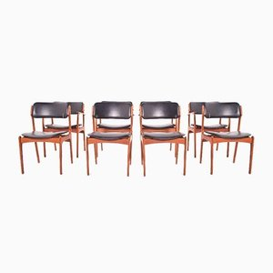 Rosewood Dining Chairs by Erik Buch for Odense Maskinsnedkeri, Set of 8