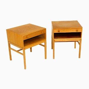Casino Bedside Tables by Sven Engström & Gunnar Myrstrand for Tingströms, Sweden, 1960, Set of 2