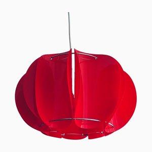 Mid-Century Danish Red Acrylic Modular Ceiling Lampshade, 1960s
