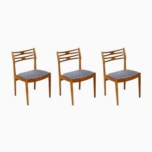 Oak Chairs, Sweden, 1960, Set of 3