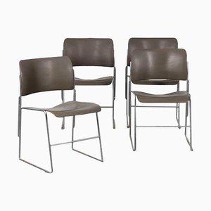Stühle von David Rowland, 4er Set