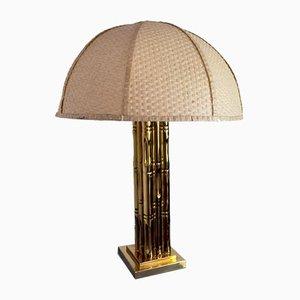 Kunstbambus Regency Messing Lampe, Frankreich, 1970