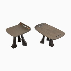 Side Table & Stool Set from the Soshiro Pok Collection by Shiro Muchiri, 2019