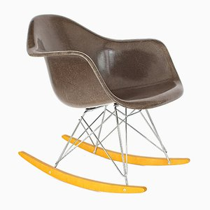 Mid-Century RAR Rocking Chair with Vitra Base by Charles & Ray Eames for Herman Miller