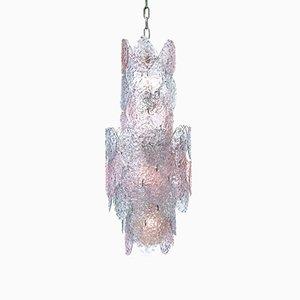 Lámpara colgante muy grande de cristal de Murano, años 60